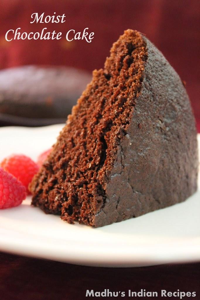 Moist Chocolate Cake   No butter Chocolate Cake Recipe