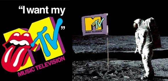 MTV Logo - MTV Landing on Moon