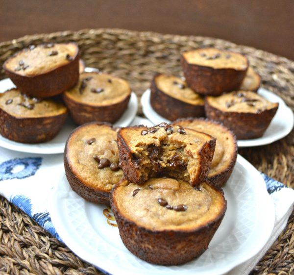 Peanut Butter Banana Protein Muffins