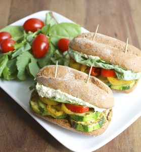 Italian Veggie Sliders with Feta+Pesto Spread. Finally, a vegetarian appetizer that everyone will love! #glutenfree www.maebells.com
