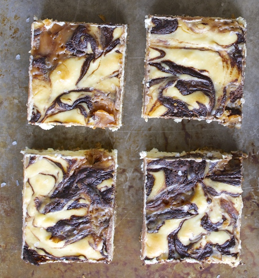Salted Caramel Mocha Cheesecake Bars