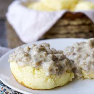 Perfect Southern Sausage Gravy and Biscuits! Totally gluten free!