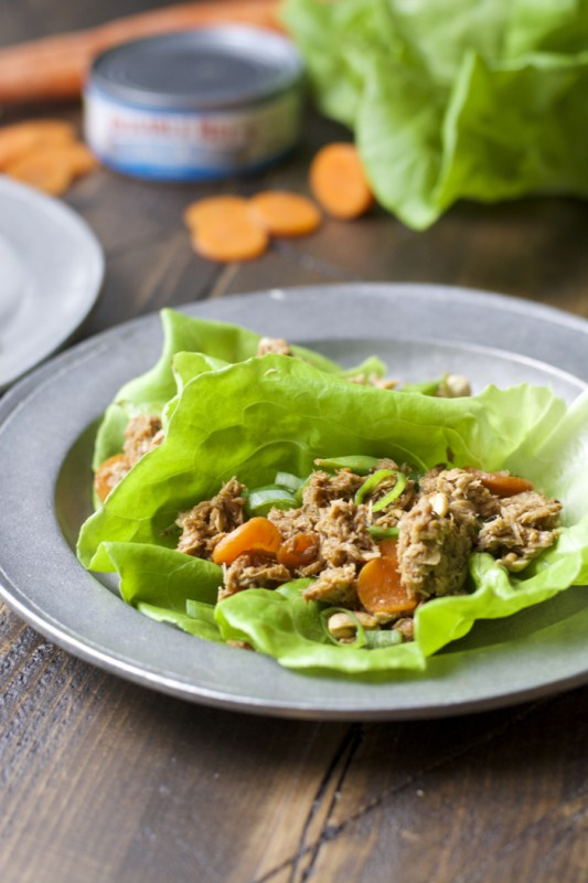 These Sesame Tuna Lettuce Wraps are healthy, easy, and are on the table in under 20 minutes, prep time included!