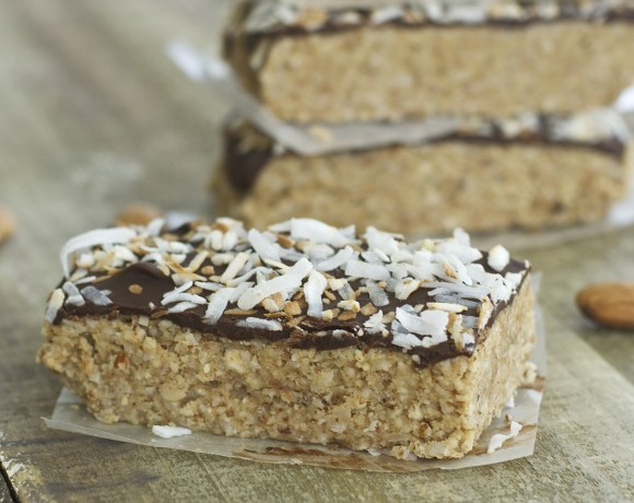 No Bake Toasted Coconut and Almond Granola Bars