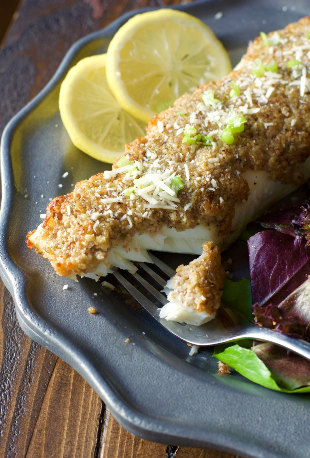 Try this Baked Parmesan and Pecan Crusted Halibut for a heart healthy dinner ready in just 20 minutes!