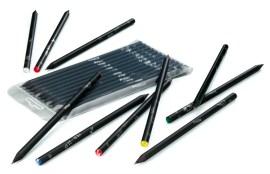 12 lápices negros con signos del zodiaco