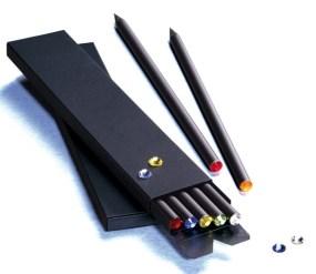 Caja de cerillas para 5 lápices