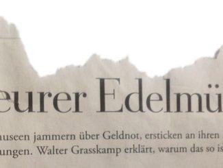 Ausschnitt aus »Teurer Edelmüll« (Die Zeit, 21. April 2016)