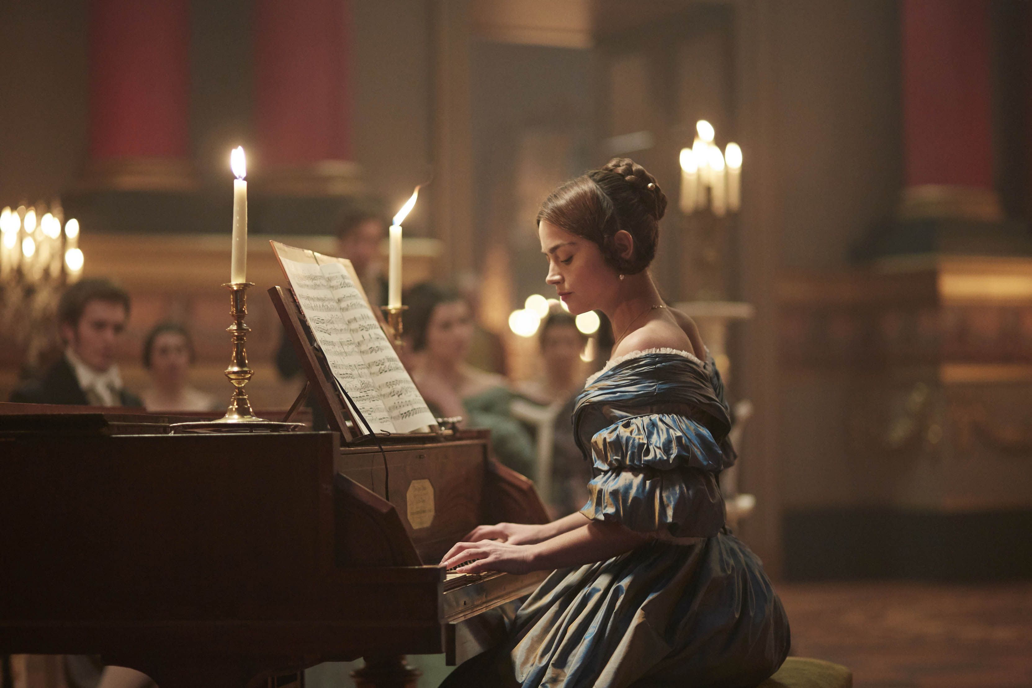 From ITV VICTORIA Episode Three Pictured: JENNA COLEMAN as Victoria This photograph is (C) ITV Plc and can only be reproduced for editorial purposes directly in connection with the programme or event mentioned above. Once made available by ITV plc Picture Desk, this photograph can be reproduced once only up until the transmission [TX] date and no reproduction fee will be charged. Any subsequent usage may incur a fee. This photograph must not be manipulated [excluding basic cropping] in a manner which alters the visual appearance of the person photographed deemed detrimental or inappropriate by ITV plc Picture Desk. This photograph must not be syndicated to any other company, publication or website, or permanently archived, without the express written permission of ITV Plc Picture Desk. Full Terms and conditions are available on the website www.itvpictures.com For further information please contact: Patrick.smith@itv.com 0207 1573044