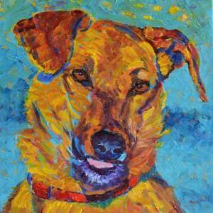 Psie portrety - Dyzio - malarstwo psy