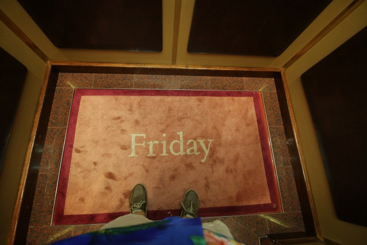 If they didn't change the rugs in the elevators every day, how would we ever know what day it is?