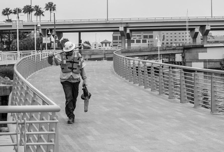 Worker on The Riverwalk