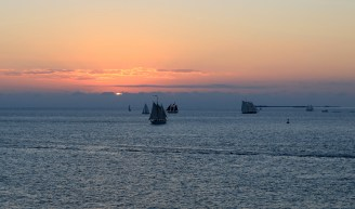 Sail away from Key West at sunset.