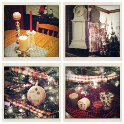 {Christmas decorations + a thankful list}