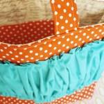 {new in the shop: Tangerine Dot tote bag // diaper bag}