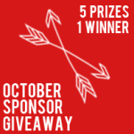 October sponsor giveaway: over $430 in prizes