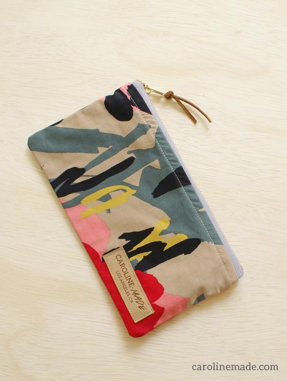 zip pouch Caroline-made