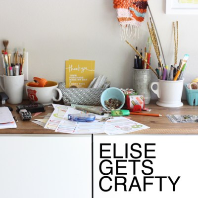 A new podcast episode with elise gets crafty!