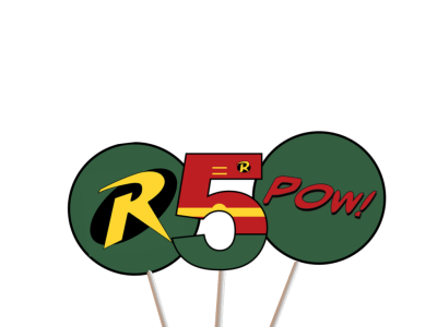 robin superhero centerpiece