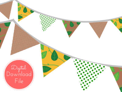 Jungle-Baby-Shower-Banner-Bunting-Pennant-Garland-Printable-Banner-Baby-Shower-Banner-Birthday-Party-Bridal-Shower-Wedding-banner