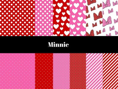 Minnie Mouse Digital Paper, Disney Minnie Mouse Digital Paper, Minnie Mouse Background, Pink Heart Digital Paper, Pink Background, Heart Digital Paper, Hearts, Minnie Mouse Bow, Mickey Mouse