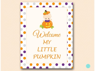 tlc106-welcome-my-little-pumpkin-sign
