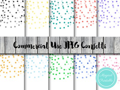 confetti background, confetti digital paper, confetti clipart