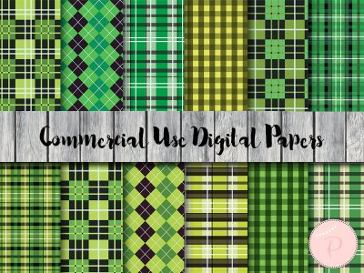 dp52 Bayadere Stripes Digital Paper, Green digital paper, St patrick Paper