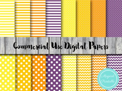 halloween-theme-digital-papers-yellow-orange-purple-digital-papers