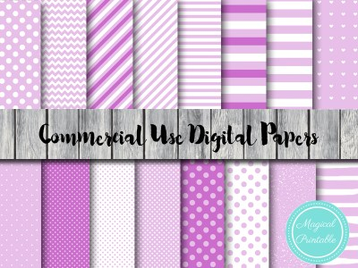 lilac digital papers, purple stripes digital papers, lavender digital papers