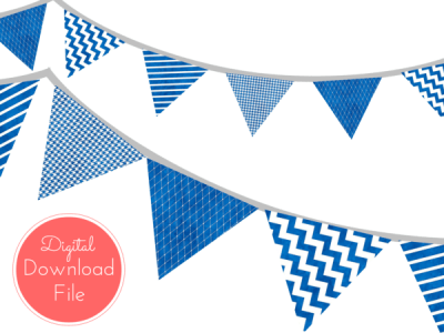 nautical-blue-watercolor-Banner-Stripes-Dots-Pennant-Garland-Printable-Banner-Baby-Shower-Banner-Birthday-Party-Bridal-Shower-Wedding-banner
