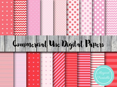 peppa pig digital papers, valentines day digital paper, romantic, love digital papers