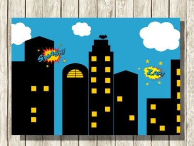 Dark-Superhero-Party-Backdrop-Superhero-Backdrop-Superhero-Background-Back-drop-photo-booth-Background-Party-Backdrop-Superhero-Party