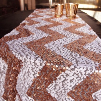 copper-Sequin Table Runner