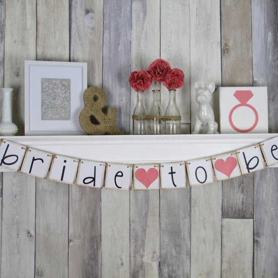 Bridal Shower Decor, Bridal Shower Banner, Bride to Be Banner, Bridal Shower Idea, Coral Bridal Shower
