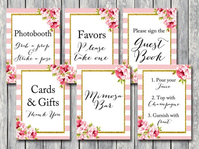 PINK-FLORAL-WEDDING-SIGNAGES-SHABBY