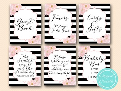 peonies flowers bridal shower wedding signages thank you signs baby shower bs150