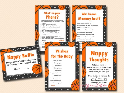 basketball baby shower game pack, printable games, aussie english tlc55