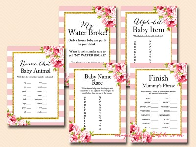 floral-pink-stripes-baby-shower-games-pack