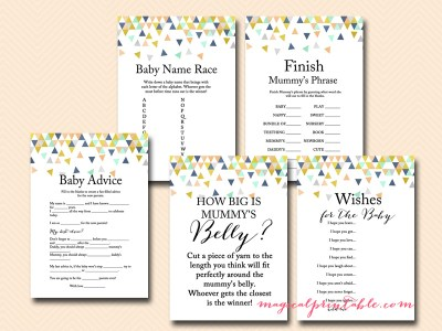 geometric baby shower game package in australia english, mummy to be baby shower games tlc51