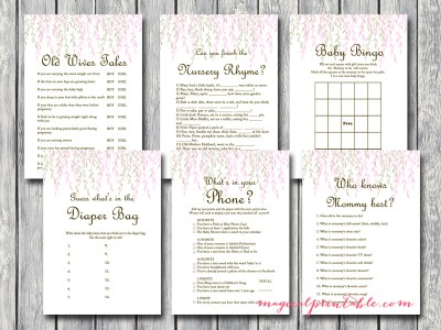 willow tree baby shower game printable set tlc12