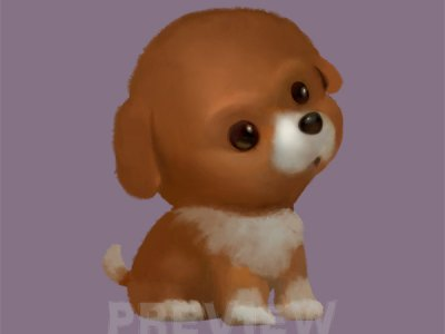Dog Clipart, Puppy Clipart, Brown puppy dog commercial