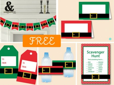 free-christmas-party-decorations-banner-labels-scavenger-game