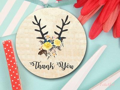 LF13-burlap-deer-rustic-bridal-shower-favor-tags-thank-you