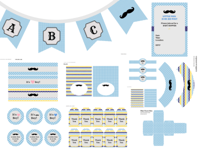 Little Man Baby Shower, Little Man Mustache Party, Mustache Baby Shower, Boy Baby Shower, Little man Printable, Little Man Banner, Mustache
