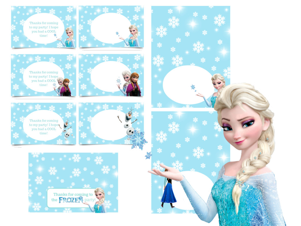 This is an image of Terrible Frozen Printable Labels