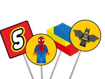Superhero Lego Centerpiece