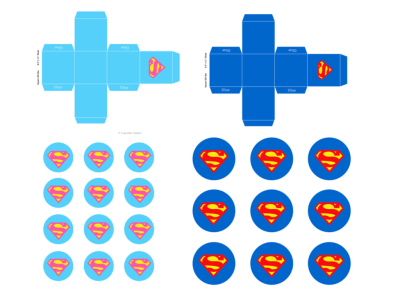 FREE superman Toppers & Favor Box
