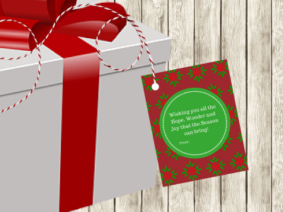 Christmas Tags and Labels, Christmas Party Gift Tags, Xmas Gift Tags, Santa Tags, Holiday Tags Labels, Download, Christmas Printable Tags
