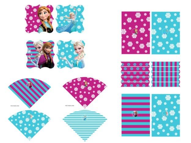 Disney's FROZEN Birthday party Printable package! Instant Download. Disney Frozen Party, Disney Princess, Frozen Banner, Elsa Party 3
